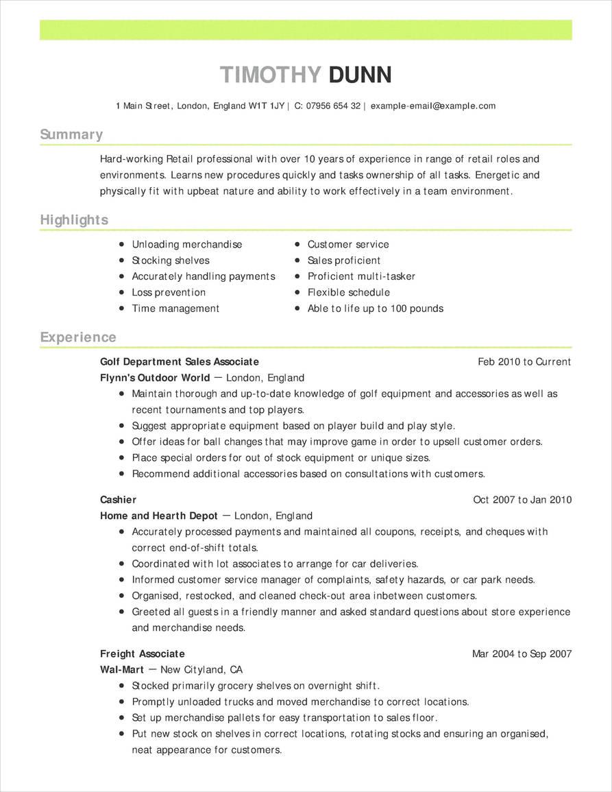 Exemplu CV cronologic